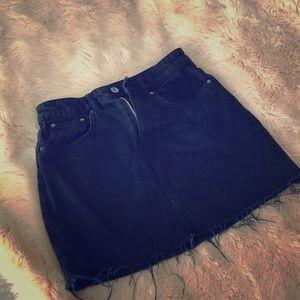 Zara black denim mini